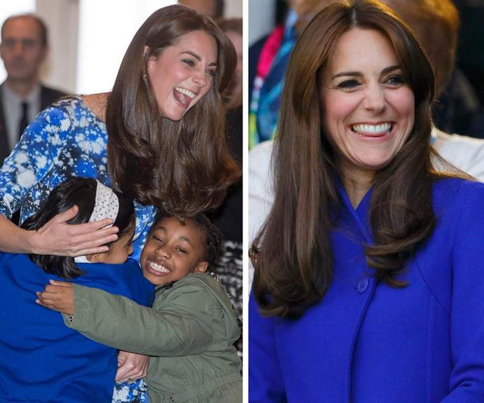 The future Queen can't contain her love for kids.