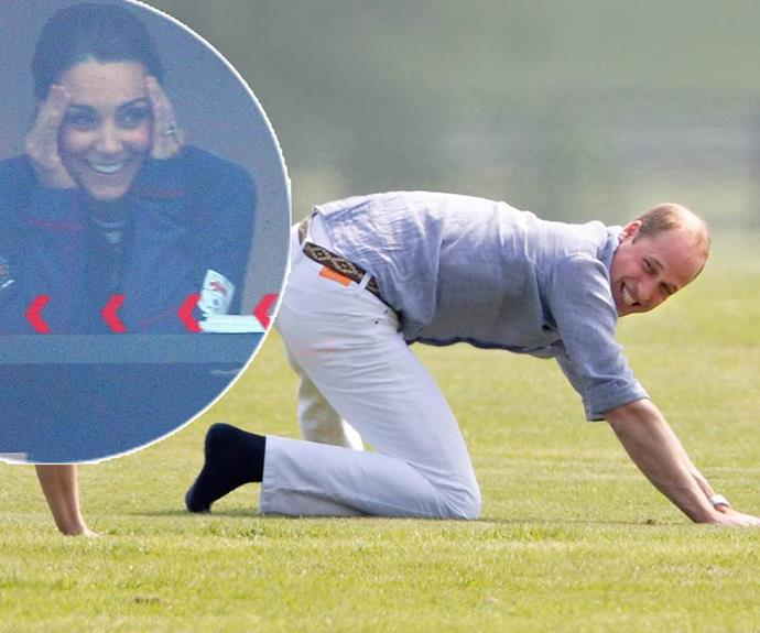But we're not sure how Kate feels about William's yoga moves.