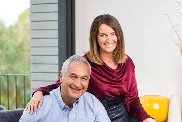 Mike and Paula at their Auckland home in 2015.