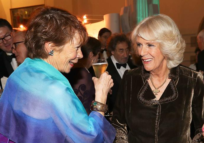 The duchess put her best foot forward at the Man Booker Awards, where she joked with celebrities such as Calendar Girls actress Celia Imrie.