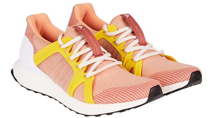Trainers, $380, by Adidas by Stella McCartney.