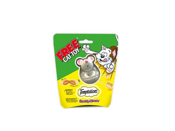 New Temptations Snacky Mouse dispenses treats to clever cats.