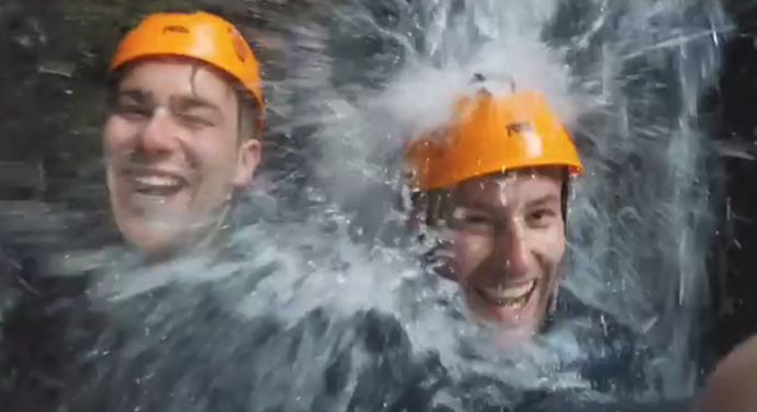 The boys on their canyoning date.
