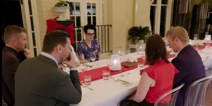 The judges and contestants check out Jaryd and Ben's menu.