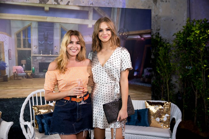 *The Bachelor* New Zealand star Viarni Bright with E! Australia host Ksenija Lukich