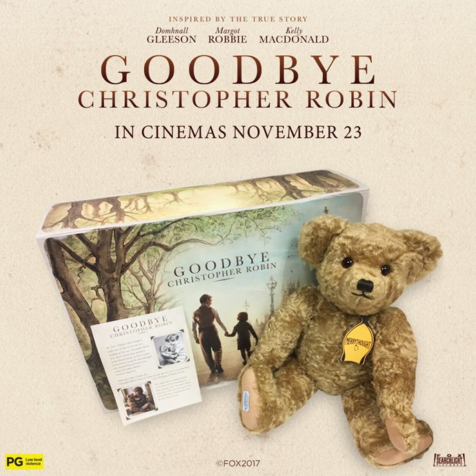 Win an official Edward Bear from Goodbye Christopher Robin!