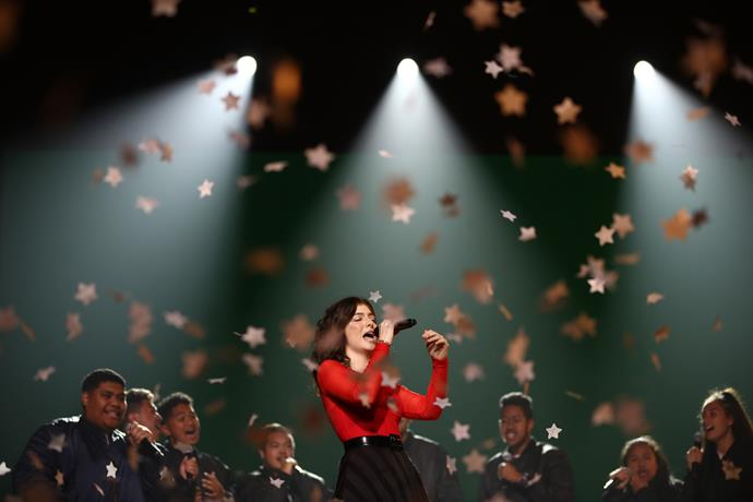 Lorde performs during the award ceremony