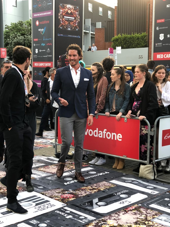 The Bachelor NZ Zac Franich arrives on the red carpet