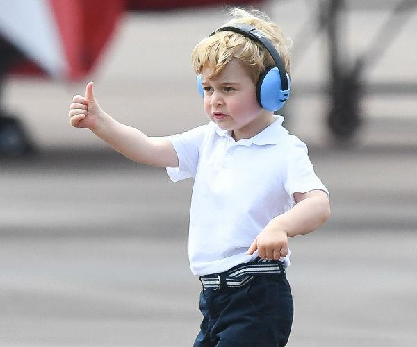 He's a hands-on little royal!