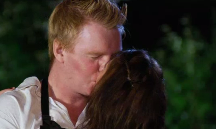 Chris and Bex share a kiss after their amazing score.