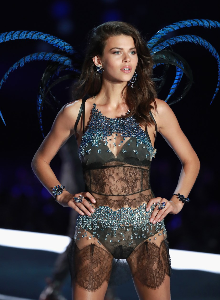 Georgia struts her stuff on the Victoria's Secret catwalk.
