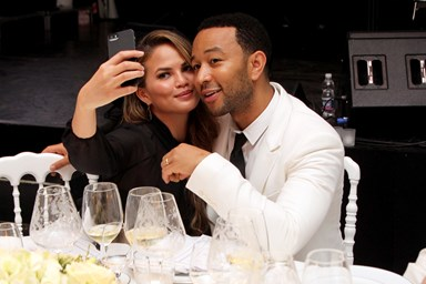 Chrissy Teigen over the moon to be pregnant with second baby