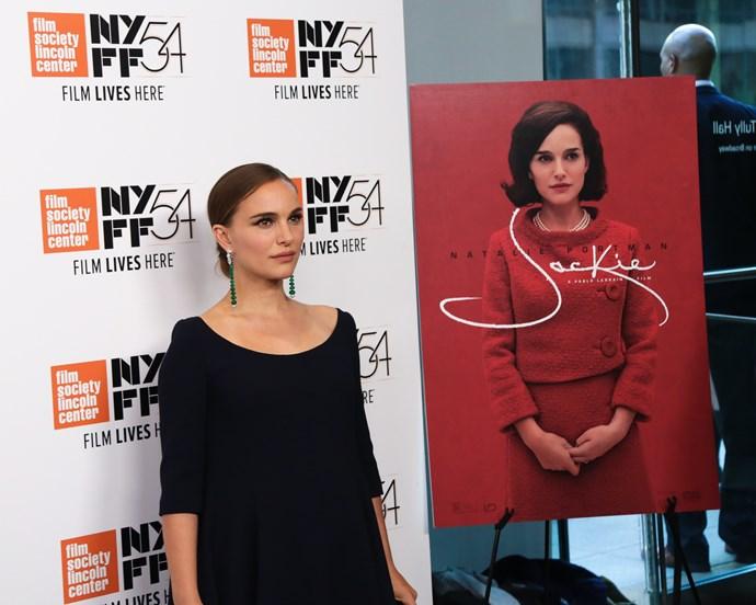 Natalie Portman at the 54th New York Film Festival - 'Jackie' screening.
