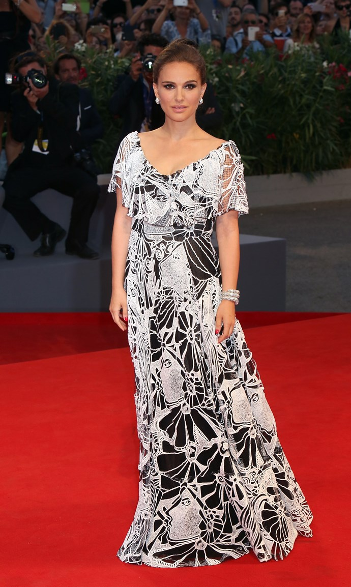 Natalie Portman at the premiere of 'Jackie' during the 73rd Venice Film Festival.