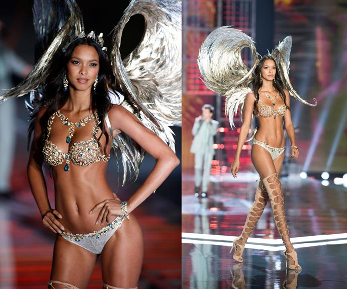 **2017:** The latest model to don the Fantasy bra was model Lais Ribeiro wearing the Champagne Nights Fantasy bra worth $2 million.
