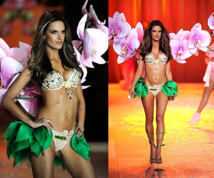 **2012:** Alessandra Ambrosio wore the Floral Fantasy bra worth $2.5 million.