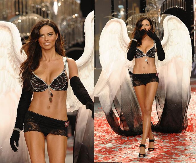 **2008:** Adriana Lima wore the Black Diamond Fantasy Miracle bra worth $5 million.