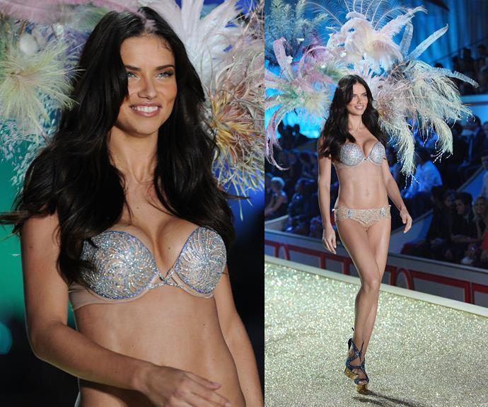 **2010:** Adriana Lima wore the Bombshell Fantasy bra worth $2 million.