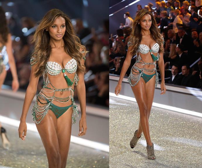 **2016:** Jasmine Tookes wore the Bright Night Fantasy bra worth $3 million.