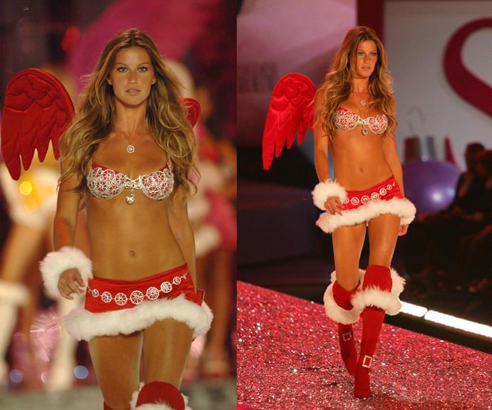 **2005:** Gisele Bundchen wore the Sexy Splendor Fantasy bra worth a whopping $12.5 million!