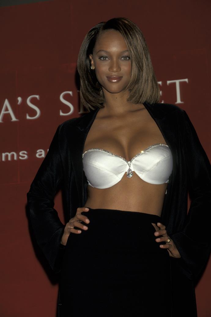 **1997:** The Diamond Dream Fantasy bra worn by Tyra Banks (worth $3 million), also never made it onto the VS runway.