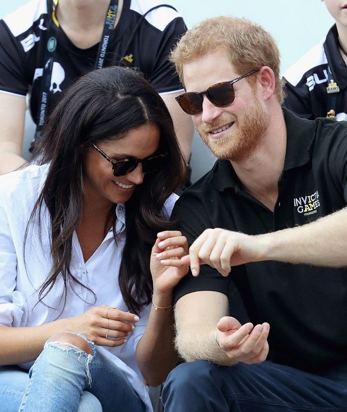 Meghan and Harry at the Invictus Games together.
