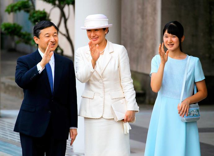 Crown Prince Naruhito, Crown Princess Masako and their daughter Princess Aiko.