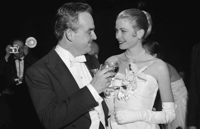 Grace Kelly met Prince Ranier of Monaco at a film festival and became Princess Grace when they married in 1956.
