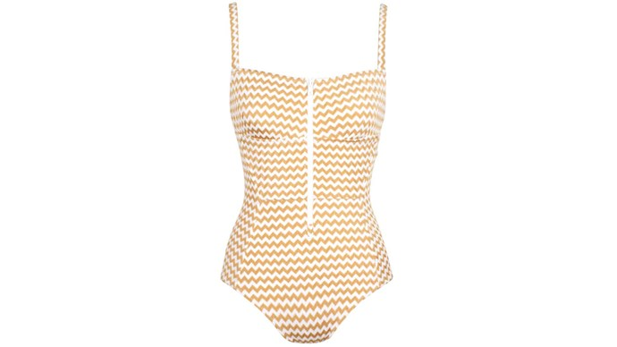 Swimsuit, $220, by Lonely.