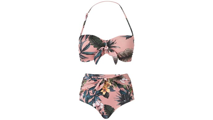 Bikini top, $89, and bottoms, $80, by Witchery.