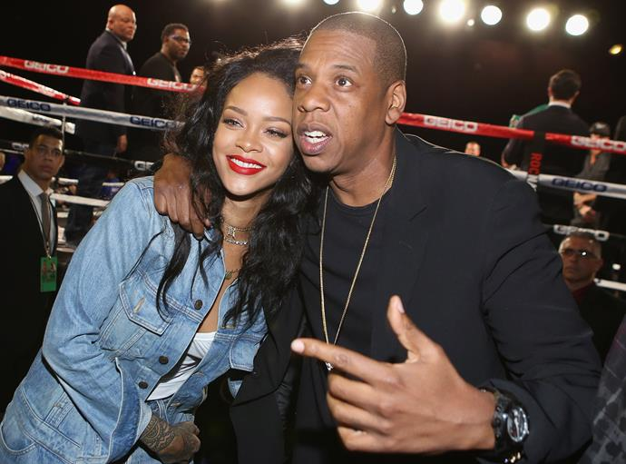 There was much speculation as to who Jaz-Z cheated with. Rihanna was one of the names that came up.