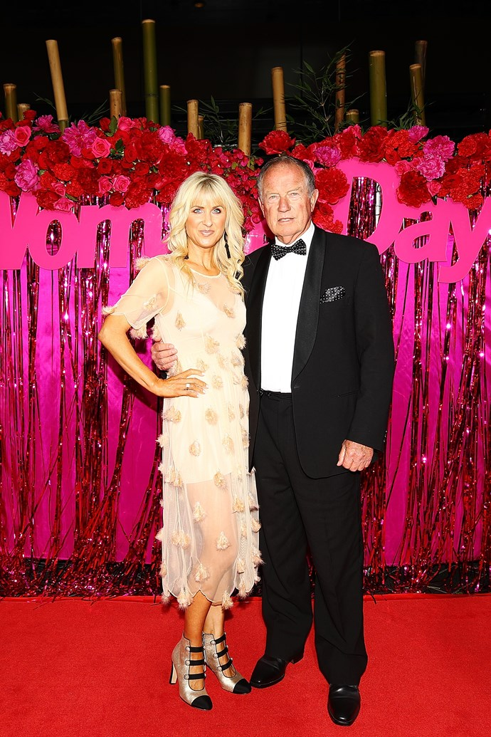 Kate Hawkesby and her father John Hawkesby looking glam on the red carpet.