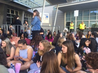 Kiwi fans queued since early hours of morning to see Harry Styles