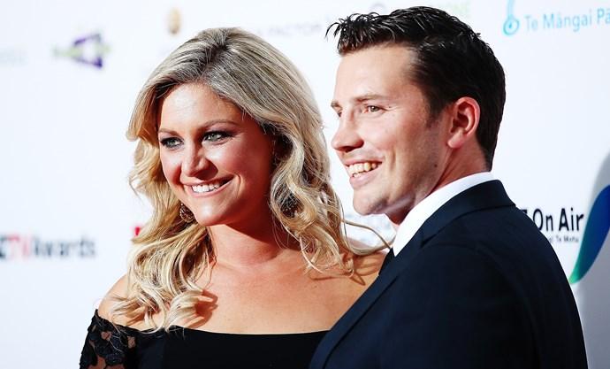 Toni and Matt at last week's New Zealand Television Awards.