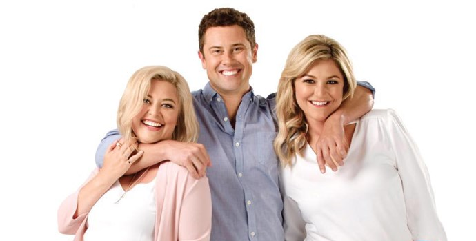 Toni with her fellow Hits presenters Sarah Gandy and Sam Wallace.