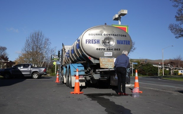 Drinking stations were set up around Havelock North during the crisis. Photo: RNZ / Rebekah Parsons-King