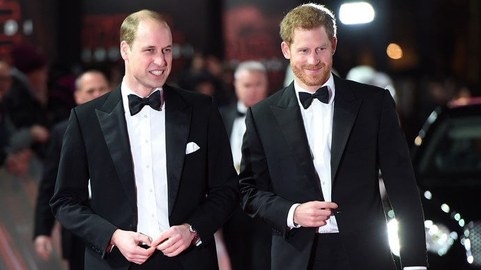 Prince William Harry Star Wars Premiere