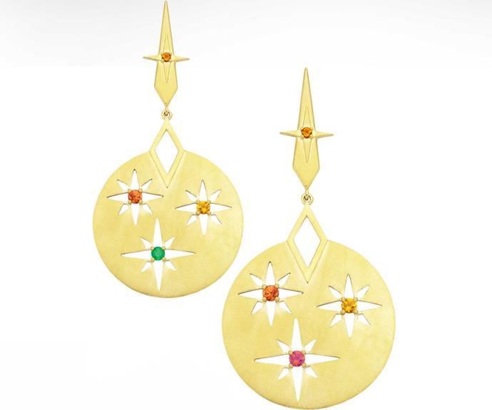 Earrings, $575, by Zoe & Morgan.