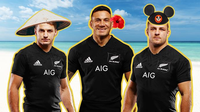 All Blacks and their loves on holiday