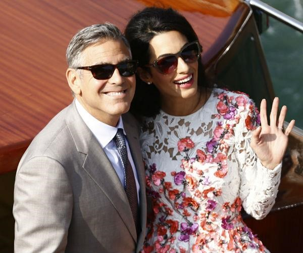 George and Amal wed in 2014, pulling out all the stops for the lavish affair in Venice.