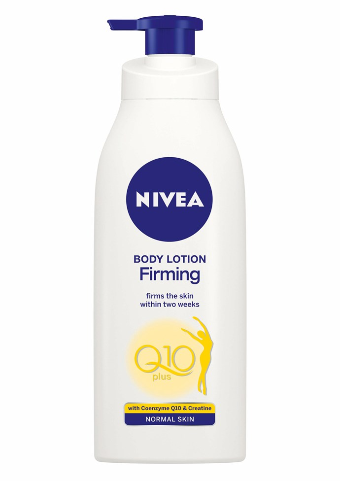 "**Nivea's Firming Body Lotion Q10 Plus** In an interview with the UK's Beauty Banter, Meghan Markle spoke of her love for a beauty product you can find at your local supermarket - Nivea's Firming Body Lotion Q10 Plus!  ""I use this religiously..."" said Meghan. ""[It's honestly my favourite lotion on the market](https://www.nowtolove.co.nz/beauty/beauty-news/meghan-markles-favourite-beauty-product-is-less-than-10-35350