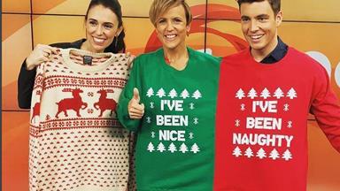 Jacinda Ardern reveals Clarke Gayford's Christmas jersey