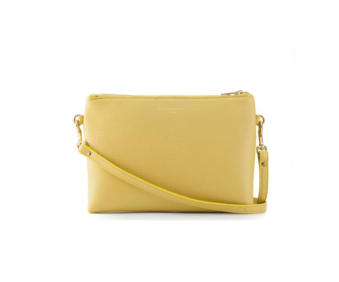 Bag, $395, by [Deadly Ponies](https://deadlyponies.com/shop/mr-siamese/yellow/).