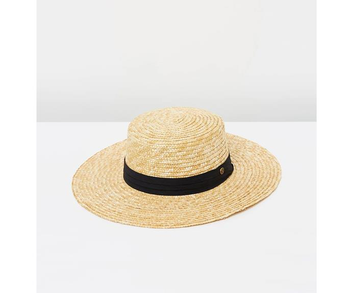 Fallen Broken Street hat, AU$110, from [The Iconic](https://www.theiconic.com.au/the-straw-bambi-wide-brim-449440.html).