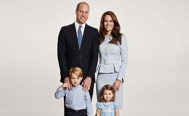 William and Catherine release adorable Christmas family portrait