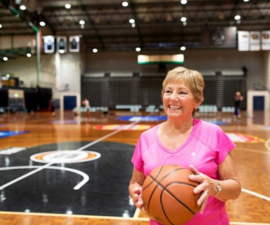 The 77-year-old grandmother who still plays basketball