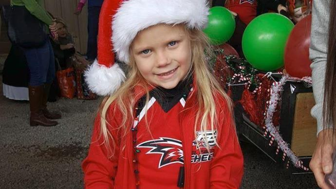 Little girl asks Santa to cure her brother's cancer