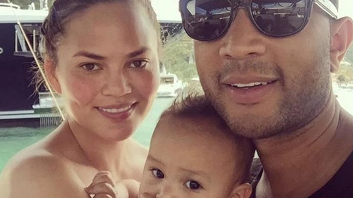 Chrissy Teigen's little Luna is turning into quite the foodie!