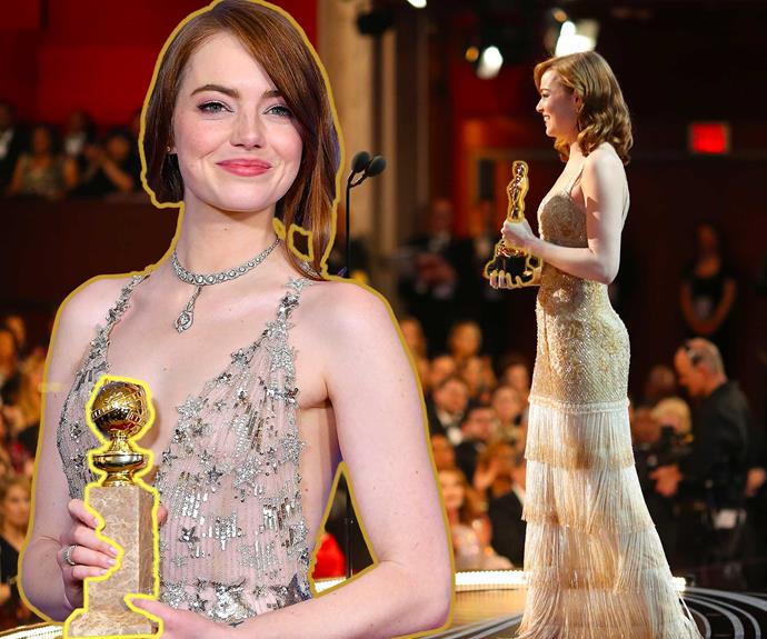 Golden Globe and Oscar winner Emma Stone