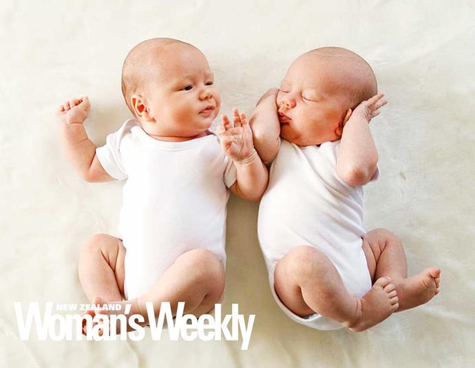 The couple's twins made their debut in the May 23, 2016 issue of the *Weekly*.